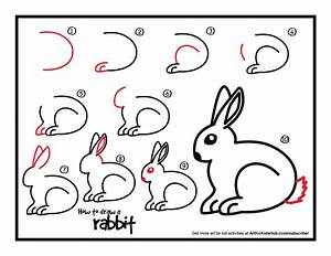 How To Draw A Rabbit - Art For Kids Hub - | Rabbit, Rabbit ...