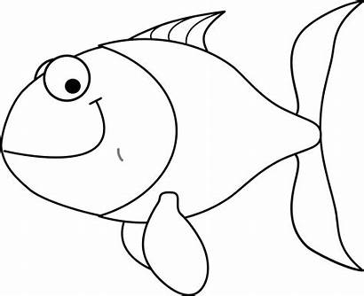Fish Coloring Clipart Pages Clip Gold Cartoon