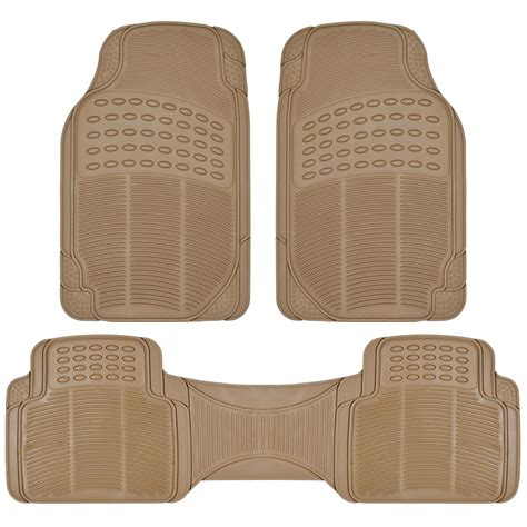 floor mats for suv van suv rubber floor mats 3 row w cargo mat all weather trimmable beige ebay
