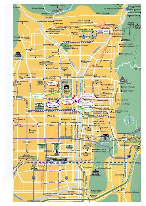 kyoto attractions map  japan kyoto japan kyoto map