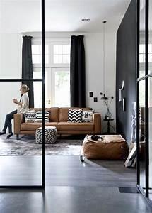 Quelle couleur pour un salon 80 idees en photos for Tapis de sol avec canapé cuir gris foncé