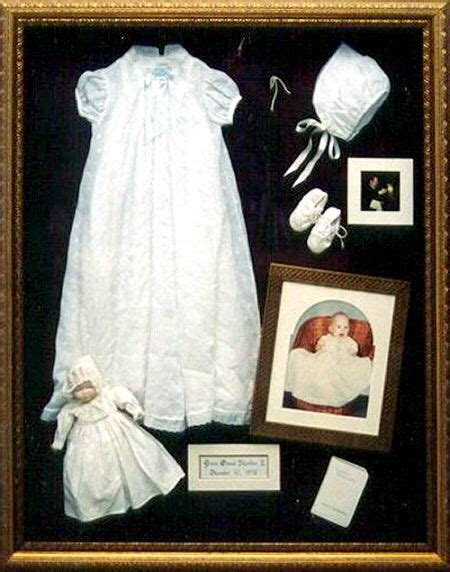 shadowbox and baby s gown quilting possibly my new hobby