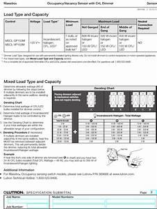 Lutron Maestro Mscl Op153m Wh Spec Sheet Brochure