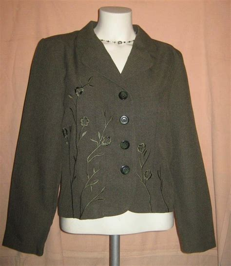 olive green blouse womens olive green embroidered blouse size 10p