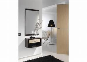 Meuble Avec Miroir : acheter votre meuble d 39 entr e avec tiroir et miroir chez simeuble ~ Teatrodelosmanantiales.com Idées de Décoration