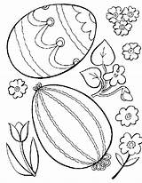 Easter Coloring Pages Egg Eggs Printable Sheets sketch template