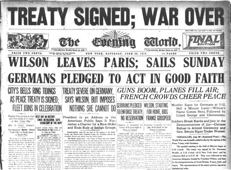 Wwi Treaty Of Versailles 1919 Create Webquest
