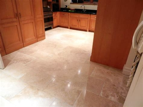 polished kitchen floor tiles replacing damaged travertine floor tiles and in 4304