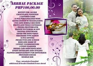 Wedding and debut packages tagaytay or manila for Wedding photo and video packages