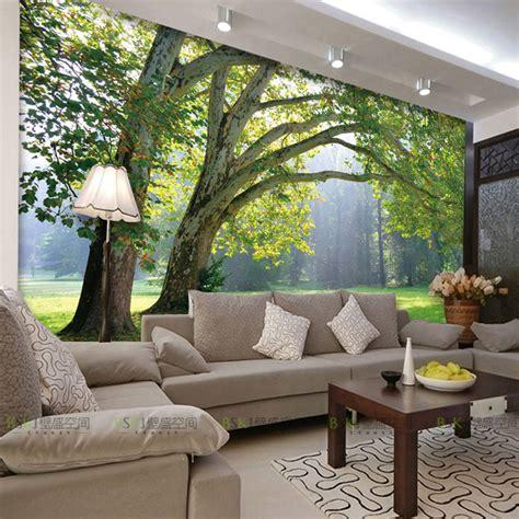 canapé en sky 3d photo wallpaper nature park tree murals bedroom living