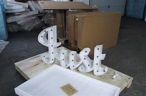 Curlew secondhand marquees theming and decor large for Light letters for sale