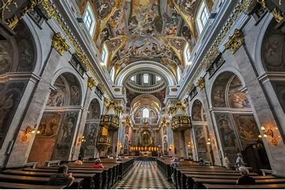 Cathedral Ljubljana Nicholas St Slovenia Interior Church