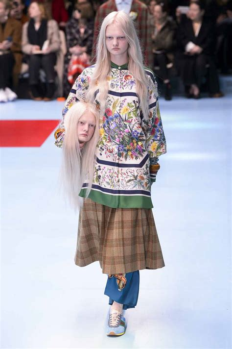 models carried replicas heads gucci