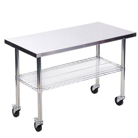 stainless steel restaurant kitchen work table