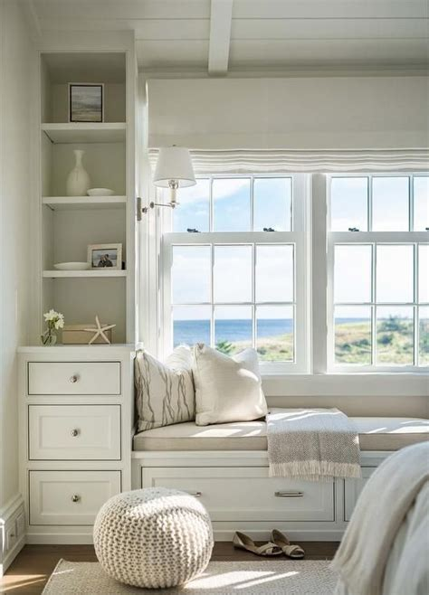 Bedroom Window Seat Ideas by A White Built In Window Bench Is Placed In A Recessed
