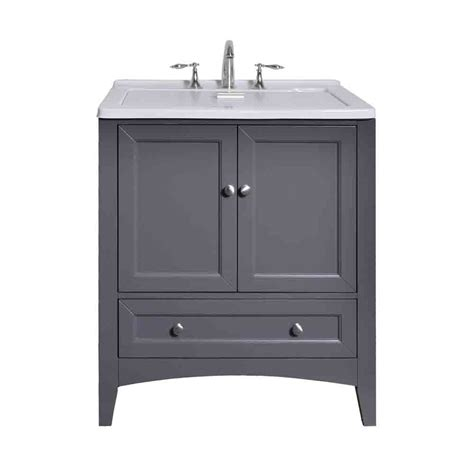 gray finish cabinets stufurhome 30 5 quot laundry utility sink vanity gray free