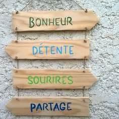 Pancarte En Bois : panneaux en bois de palette bois flott id es d coration en bois par kirsten design www ~ Teatrodelosmanantiales.com Idées de Décoration