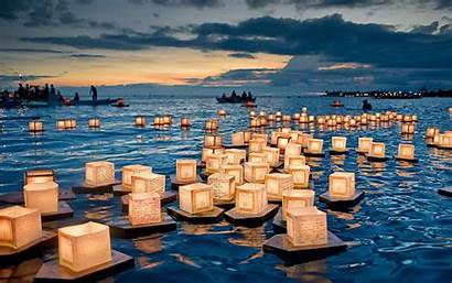 Floating Lanterns Desktop Backgrounds Honolulu Hawai Microcosmos