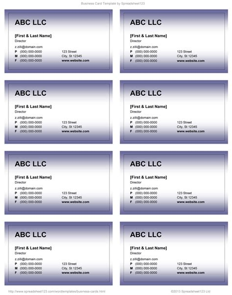buisness card template word business card templates for word