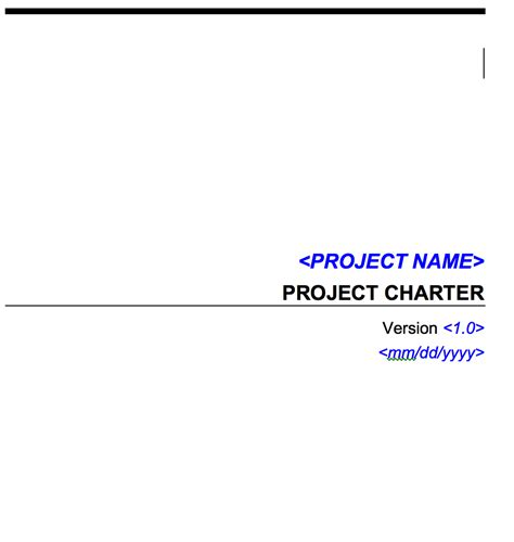 project charter templates microsoft word