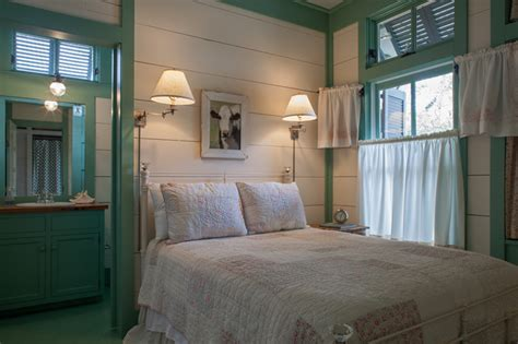 Ideas For Hanging Curtains Without Rods by Fish Camp Beach Cottage Beach Style Bedroom Miami