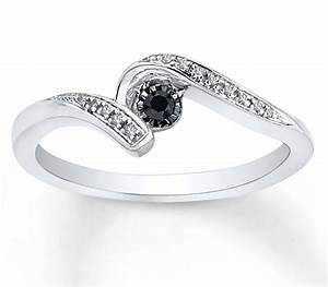 perfect black and white diamond engagement ring in white With black and white diamond wedding ring
