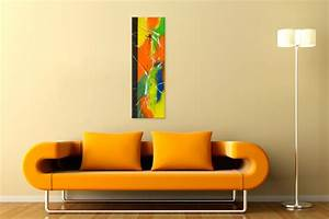Tableau Moderne Coloré : tableau moderne color grand format portrait tableau abstrait multicolore vertical unique ~ Teatrodelosmanantiales.com Idées de Décoration
