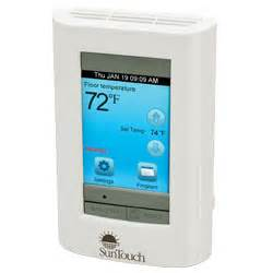 suntouch a watts water electric floor heating thermostats 2013 07 01 achrnews