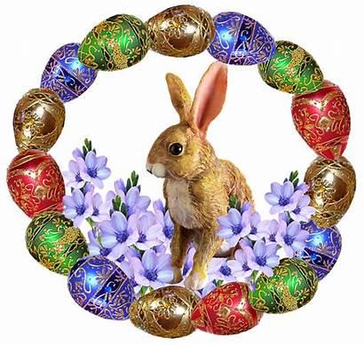 Rabbit Easter Frame Eggs Decoration Pixel
