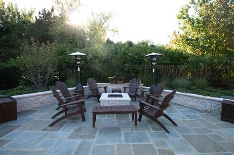 lake forest il blue stone patio  fire pit traditional patio chicago  north shore hardscapes