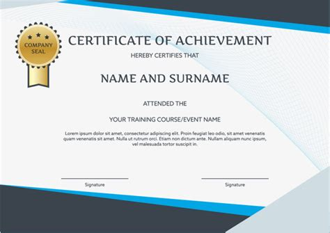 Traininb Certificate Template by English Certificate Template Certificate Template