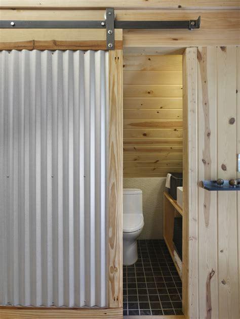 corrugated sliding door home design ideas pictures