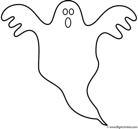 Ghost   Coloring Page (Halloween)