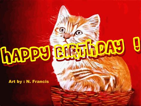birthday wishes  cats page