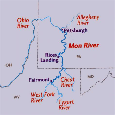 Pa Fish And Boat Commission Water Trails by Umwt Mon Water Trail Monongahela River