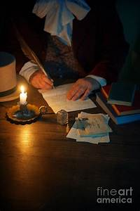 Victorian Man Writing A Letter Photograph by Lee Avison