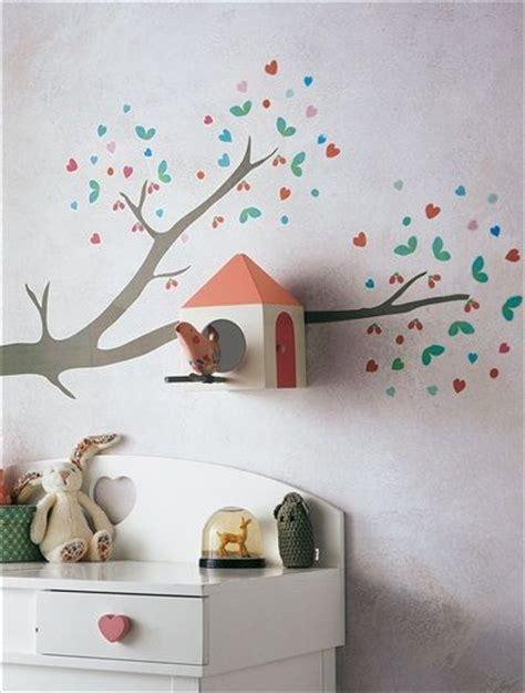 sticker arbre chambre bébé stickers branche avec nichoir à oiseaux inspiration