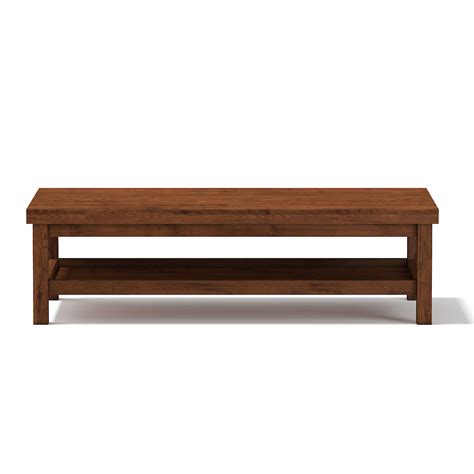 Wooden Rectangular Coffee Table By Cgaxis 3docean