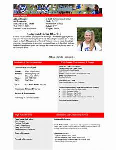Gallery of sample resume for college football player for Sports profile template
