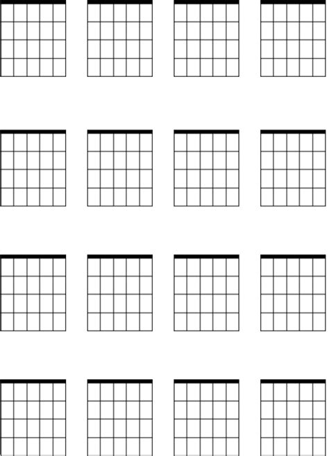 PAUL WARING - GUITAR LESSONS - Blank Chord Sheet | Guitar