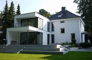 Graue Fassade Weiße Fenster : neubau villa h1 ~ Markanthonyermac.com Haus und Dekorationen