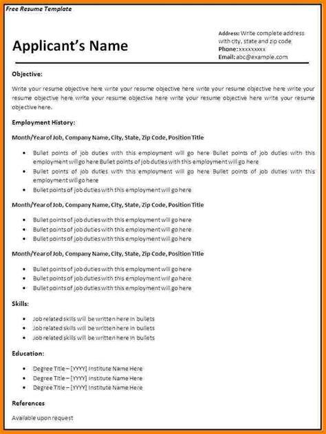 blank basic resume templates professional resume list