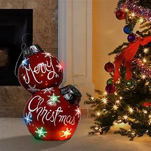 Alpine, Corporation, Christmas, Ball, Ornament, With, Color, Changing, Led, Light, Indoor, Festive, Holiday