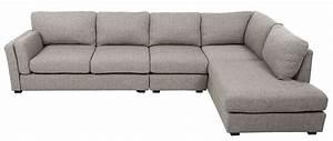 canape d39angle droit design 6 places tissu gris clair With tapis exterieur avec canapé d angle tissu 6 places