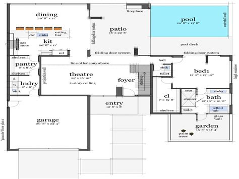 modern home floorplans modern homes modern house floor plans house plans