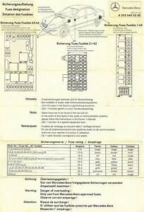 W203 C32 Fuse Chart