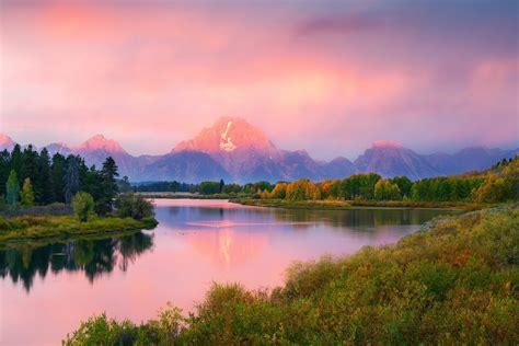 united states wyoming grand teton national park oxbow bend