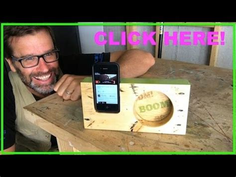 wooden iphone amplifier cool pallet wood project youtube