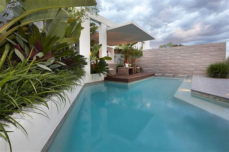 pool area garden ideas custom pool area garden beds and view to covered patio lounge interior design ideas