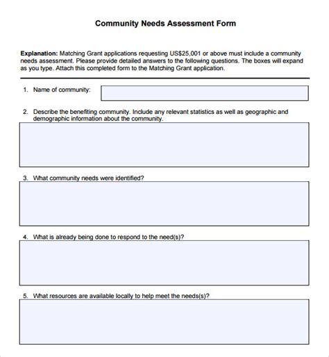 needs assessment template 9 sle community needs assessment templates to sle templates